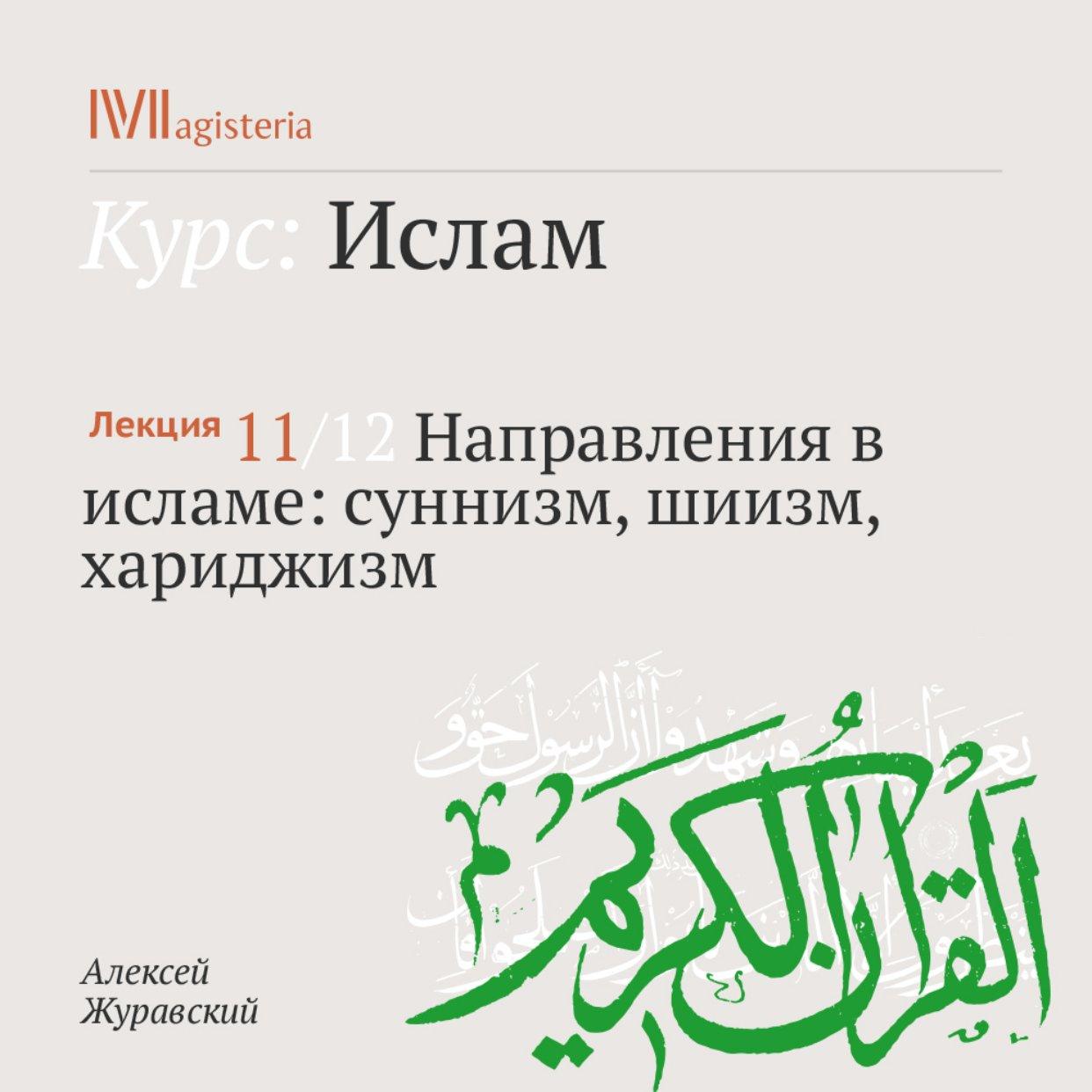 Направления в исламе: суннизм, шиизм, хариджизм