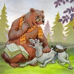 Самоотверженный заяц. Бедный волк. Гиена.